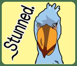 Sluggish bird Shoebill sticker #15929989