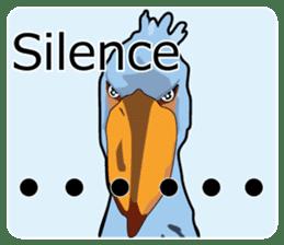 Sluggish bird Shoebill sticker #15929993