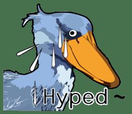 Sluggish bird Shoebill sticker #15929996