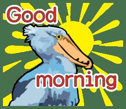 Sluggish bird Shoebill sticker #15929998