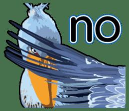 Sluggish bird Shoebill sticker #15929999