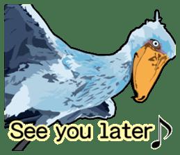 Sluggish bird Shoebill sticker #15930000