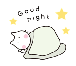 Heartwarming cat world sticker #15946607