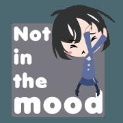 สติ๊กเกอร์ไลน์ Not in the mood
