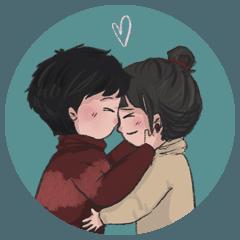 Always in love : Big sticker