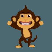 สติ๊กเกอร์ไลน์ ลิงรวยยิ้ม Ver.03