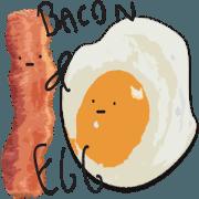 สติ๊กเกอร์ไลน์ BACON AND EGG