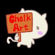 สติ๊กเกอร์ไลน์ MIYO'S Chalk Art1