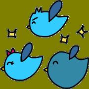 สติ๊กเกอร์ไลน์ trio birds