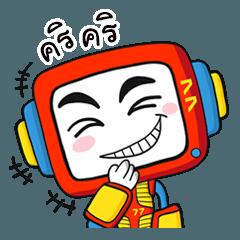 สติ๊กเกอร์ไลน์ โอปป้า77 หุ่นเหล็กวัยว้าวุ่น