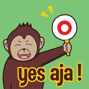สติ๊กเกอร์ไลน์ Bana the monkey : Indo ver.2