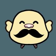 สติ๊กเกอร์ไลน์ kaodori-bird of face-