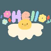สติ๊กเกอร์ไลน์ How to cute! : น้องไข่ดาว
