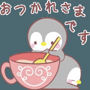 สติ๊กเกอร์ไลน์ message penguin 7