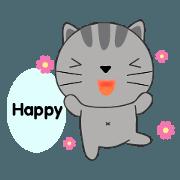 สติ๊กเกอร์ไลน์ Little Cat sticker(eng)