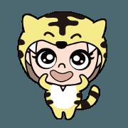 สติ๊กเกอร์ไลน์ Maru-chan's Tiger Onesie