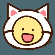 สติ๊กเกอร์ไลน์ Sticker of the cat,
