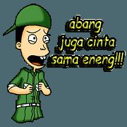 สติ๊กเกอร์ไลน์ sarkowi satpam ngehe