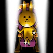 สติ๊กเกอร์ไลน์ Shine Golden Rabbit for rich man 240