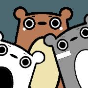 สติ๊กเกอร์ไลน์ when 3 bears get together