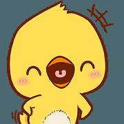 สติ๊กเกอร์ไลน์ Cute Yellow Chick (EN)
