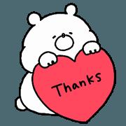 สติ๊กเกอร์ไลน์ **Sticker of a cute bear vol.4**