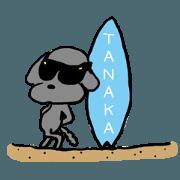 สติ๊กเกอร์ไลน์ TANAKA desu