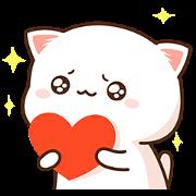 สติ๊กเกอร์ไลน์ Mochi Mochi Peach Cat Daily Life