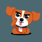 สติ๊กเกอร์ไลน์ Rusty The Adorable Dog - Sachet 2