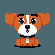 สติ๊กเกอร์ไลน์ Rusty The Adorable Dog - Sachet 1