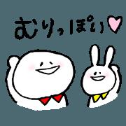 สติ๊กเกอร์ไลน์ circle and rabbit(3)