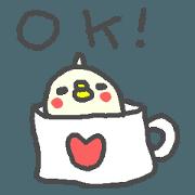 สติ๊กเกอร์ไลน์ English pop sticker cute Bird!