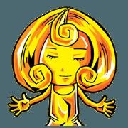 สติ๊กเกอร์ไลน์ The goddess of gold