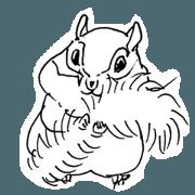 สติ๊กเกอร์ไลน์ squirrel sketches