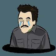 สติ๊กเกอร์ไลน์ Mustache Men Animated Volume 2