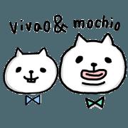 สติ๊กเกอร์ไลน์ vivao&mochio2