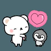 สติ๊กเกอร์ไลน์ To move! Cute sticker of polar bear. 2