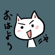 สติ๊กเกอร์ไลน์ white cat life time