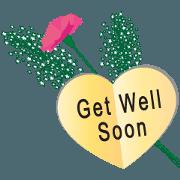 สติ๊กเกอร์ไลน์ Flowers and greeting card2