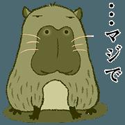 สติ๊กเกอร์ไลน์ Hi~!!capybara 4