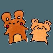 สติ๊กเกอร์ไลน์ Koguma and Tsuntan