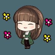 สติ๊กเกอร์ไลน์ Miss.Grass is cute