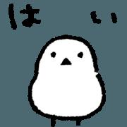 สติ๊กเกอร์ไลน์ The White and Round Bird - Basic Ver. -