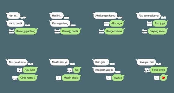 สติ๊กเกอร์ไลน์ Auto-reply Text Messages: Couple