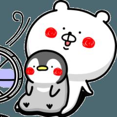 สติ๊กเกอร์ไลน์ Bears & penguins