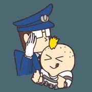 สติ๊กเกอร์ไลน์ Prison officer and prisoner