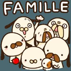 สติ๊กเกอร์ไลน์ little dogs 6 (Japanese and French)