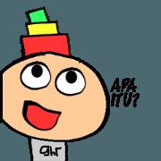 สติ๊กเกอร์ไลน์ Si Botak Ceria Animated Sticker