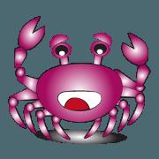สติ๊กเกอร์ไลน์ Cute crabs 02