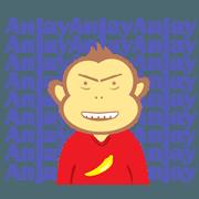 สติ๊กเกอร์ไลน์ college monkey animated talking